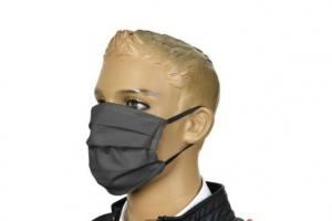 Bild von Mundschutz Mund Nasen 60° Waschbar Graphit Oeko-Tex 100% Baumwolle = 8,99€
