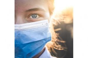 Bild von klassische Mund-Nasenschutz-Maske