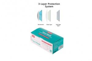 Bild von 50x Mundschutz Atemschutz Maske Filterleistung latexfrei 3-lagig Hygieneschutz atmungsaktiv Vlies = 49,49€